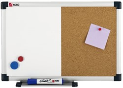 Duobord Nobo 60x45cm kurk-staal