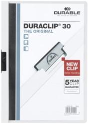 Klemmap Durable Duraclip A4 3mm 30 vellen wit