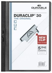 Klemmap Durable Duraclip A4 3mm 30 vellen zwart