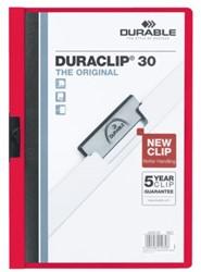 Klemmap Durable Duraclip A4 3mm 30 vellen rood