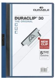 Klemmap Durable Duraclip A4 3mm 30 vellen blauw