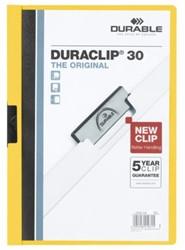 Klemmap Durable Duraclip A4 3mm 30 vellen geel