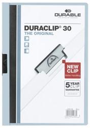 Klemmap Durable Duraclip A4 3mm 30 vellen lichtblauw