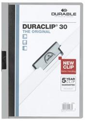 Klemmap Durable Duraclip A4 3mm 30 vellen grijs