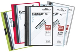 Klemmap Durable Duraclip A4 3mm 30 vellen assorti