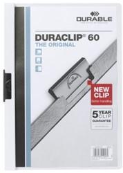 Klemmap Durable Duraclip A4 6mm 60 vellen wit