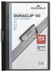 Klemmap Durable Duraclip A4 6mm 60 vellen zwart