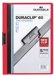 Klemmap Durable Duraclip A4 6mm 60 vellen rood