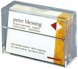 Visitekaartenbak Sigel VA110 85x56x27mm staand glashelder