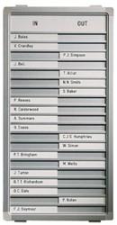 Aan-afwezigheidsbord Legamaster 31x26cm 10 namen