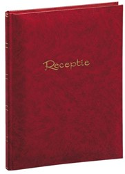 Receptiealbum garen gebonden 205x260mm rood