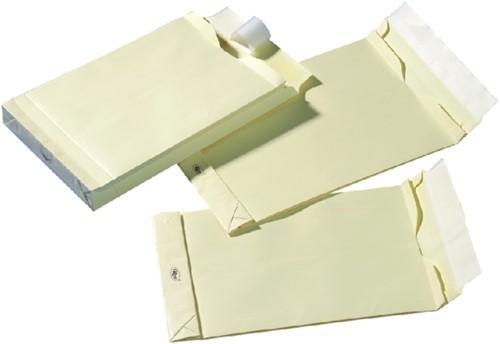 Envelop Quantore monsterzak 185x280x38mm zelfkl creme 125st-1