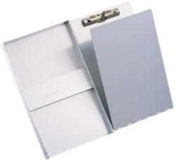 Klembordkoffer aluminum A4 staand met deksel en zij-opening