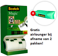 Plakband Scotch Magic 810 19mmx33m onzichtbaar mat 12+2 gratis-2