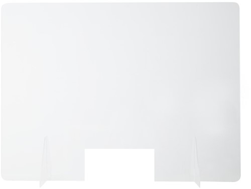 Balie preventiescherm 100x80cm 3mm