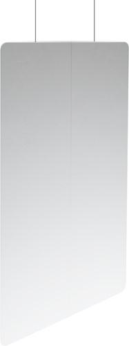 Hangend preventiescherm 80x100 3mm