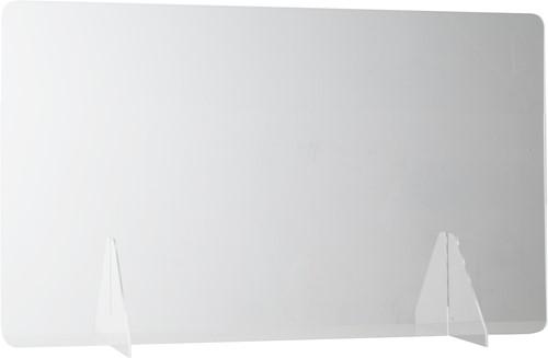 Bureau preventiescherm 120x60cm 3mm