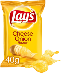 Lay's Cheese onion chips 20x40 gr